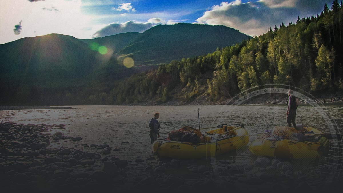 River rafting with monster grizzly bears